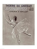 Poster for the 'Saison Russe' at the Theatre du Chatelet, 1909