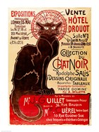 Poster advertising an exhibition of the 'Collection du Chat Noir' Cabaret