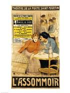 Poster advertising 'L'Assommoir'