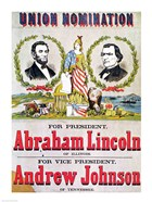 Electoral campaign poster for the Union nomination with Abraham Lincoln
