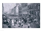 Carnival at Philadelphia, illustration from 'The Battle of Monmouth Court House'