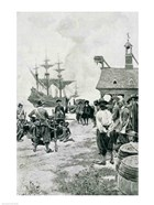 The Landing at Jamestown from a Dutch Man-of-War