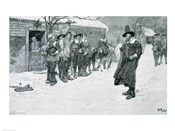 The Puritan Governor Interrupting the Christmas Sports