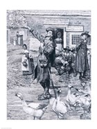 A Quaker Exhorter in New England, illustration from 'The Second Generation of Englishmen in America'