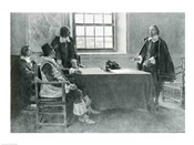 Sir William Berkeley Surrendering to the Commissioners of the Commonwealth, illustration from 'In Washington's Day'