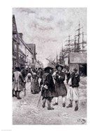 Along the Water Front in Old New York, illustration from 'The Evolution of New York