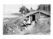 A Pennsylvania Cave-Dwelling, illustration from &#39;Colonies and Nation&#39;