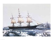 Clipper Ship &quot;&quot;Red Jacket&quot;&quot; in the ice off Cape Horn on her passage from Australia to Liverpool