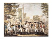 The British Surrendering to General Washington after their Defeat at Yorktown