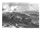 Battle of Gettysburg - Final Charge of the Union Forces at Cemetery Hill, 1863