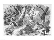 Defeat of General Braddock, in the French and Indian War, in Virginia