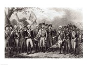 The British Surrendering their Arms to General Washington