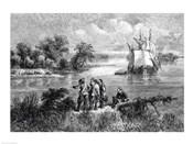 The Moravians Ascending the Delaware