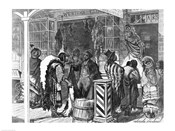 Indians Trading at a Frontier Town