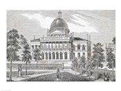Southern view of the State House in Boston