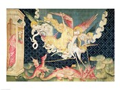 St. Michael and his angels fighting the dragon