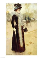 A Parisian Woman in the Bois de Boulogne