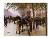 The Boulevards, Evening in Front of the Cafe Napolitain