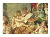 Genius Teaching the Arts, 1761 - detail