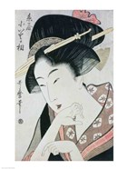Bust portrait of the heroine Kioto of the Itoya