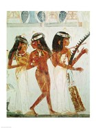 Musicians and a Dancer, from the Tomb of Nakht