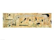 Funerary papyrus of Djedkhonsouefankh depicting Geb and Nut