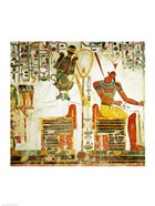 The Gods Osiris and Atum, from the Tomb of Nefertari