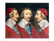 Triple Portrait of the Head of Richelieu, 1642