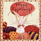 Spring Bunny Holding Egg