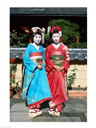 Portrait of two geishas