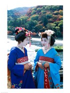 Two geishas, Kyoto, Honshu, Japan