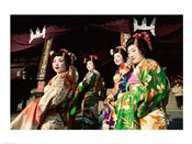 Group of geishas, Kyoto, Honshu, Japan