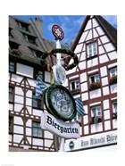 Beer Garden Sign, Franconia, Bavaria, Germany