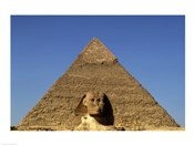 Great Sphinx  Chephren Pyramid  Giza  Egypt