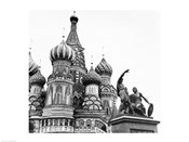 Monument of Minin and Pozharsky St. Basil's Cathedral Moscow Russia