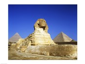 Great Sphinx and pyramids, Giza, Egypt