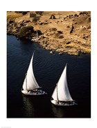 Two sailboats, Nile River, Egypt