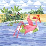 Martini Float Flamingo