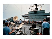 Persian Gulf: A Band Plays For the USS Blue Ridge