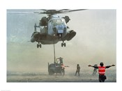 Bellows Air Station, Hawaii: Marines Direct a CH-53 Sea Stallion Helicopter