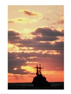 Silhouette of the USS Deyo