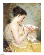 A Beauty with Doves