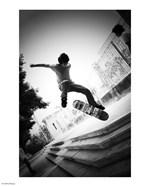 Skateboarding Black And White
