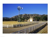 Industrial windmill on a farm, California, USA