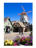 Windmill on Alisal Road, Solvang, Santa Barbara County, Central California, USA