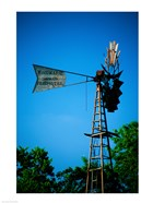 Low angle view of an industrial windmill, Winterset, Iowa, USA