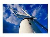 Low angle view of a traditional windmill, Ballycopeland Windmill, Millisle, County Down, Northern Ireland