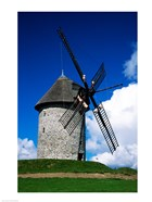 Low angle view of a traditional windmill, Skerries Mills Museum, Skerries, County Dublin, Ireland