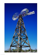 Low angle view of a windmill at American Wind Power Center, Lubbock, Texas, USA