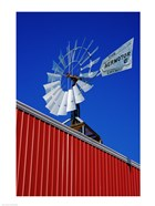 Close angle view of a windmill at American Wind Power Center, Lubbock, Texas, USA